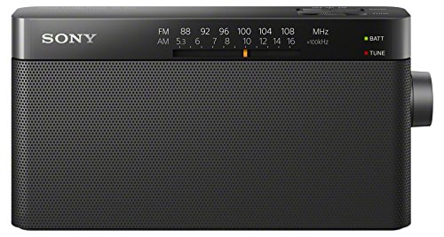 Sony ICF-306 - FM / AM portable analog radio, black color