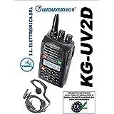 Wouxun KG-UV2D émetteur-récepteur 144/430avec microphone Oreillette
