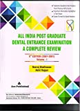 #8: ALL INDIAPOST GRADUATE DENTAL ENTRANCE EXAMINATION A COMPLETE REVIEW 5ED (2001-2007) VOLUME 1
