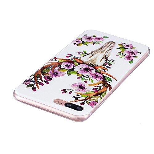 """Apple iPhone 7 Plus / 8 Plus 5.5"""" Hülle, SATURCASE Schönes Muster Leuchtend Fluoreszierend Ultra Dünn Weich TPU Gel Silikon Schützend Zurück Case Cover Handy Tasche Schutzhülle Handyhülle Hülle für Ap Muster-5"""
