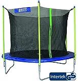 Best Sporting Garten Trampolin Scout 65, Ø 305 cm, Outdoor Trampolin GS geprüft mit Sicherheitsnetz, Blau