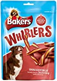 Bakers Whirlers Dog Treats Bacon and Cheese, 175 g - Pack of 6