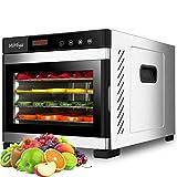 MiMiya Déshydrateur Alimentaire, Machine électrique deshydrateur déshydrateur, Déshydrateur de Viande séchée, Déshydrateur de légume de Fruit, 6 Plateaux d'acier Inoxydable