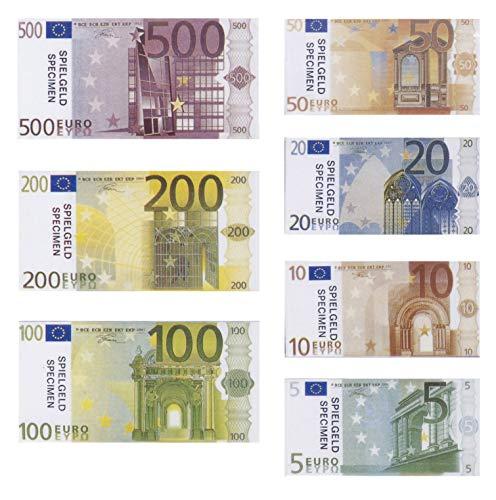 PhiLuMo Spielgeld Euro Münzen und Scheine, - Scheine Geld Monopoly