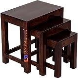 Custom Decor Sheesham Wood Nesting Table (Walnut)