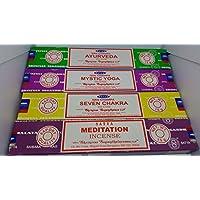 Satya Räucherstäbchen Set von 4Ayurveda, Mystic Yoga, sieben Chakra, Meditation mit Souvenir Badge Sterling effectz preisvergleich bei billige-tabletten.eu