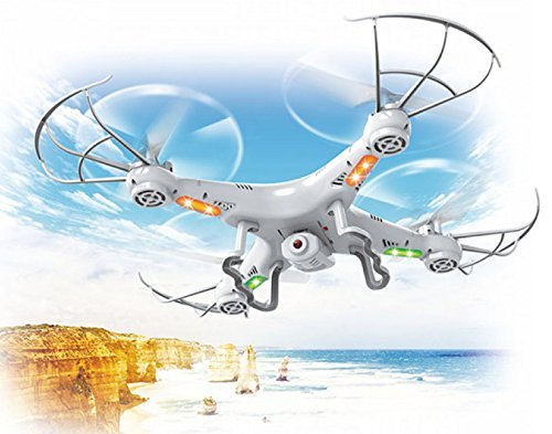 Top Race® Drohne für Anfänger und kinder, Quad hd Kamera, Fliegende spielzeug mit fernbedinung, ultrastabil 4-Kanal Quad-Copter Drone Drohne mit Kamera & Videoaufnahme, mit 1 Rückkehr- und Gewindemodusoption, fpv, mini drohne, dji k syma TR-Q511