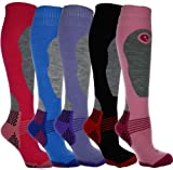 i-Smalls 4er Pack Hohere Leistung Damen Ski Socken Lange Struempfe