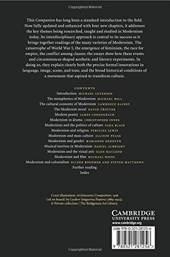 The Cambridge Companion to Modernism 2nd Edition Paperback (Cambridge Companions to Literature)