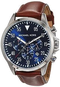 Michael Kors hombre-reloj cronógrafo de cuarzo de cuero MK8362 de Michael Kors