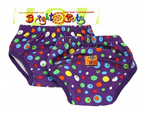 Bright Bots-Vasino Formazione Pantaloni (Large, 24-30mesi, colore: viola, confezione da 2)
