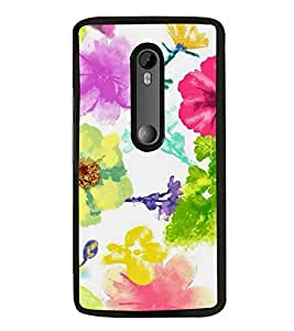 Fuson Designer Back Case Cover for Motorola Moto G3 :: Motorola Moto G (3rd Gen) :: Motorola Moto G3 Dual SIM (Yellow Flowers Green Flowers Blue Flowers Pink Flowers Green Design)