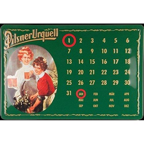 Pilsner Urquell Calendario in latta, 30x