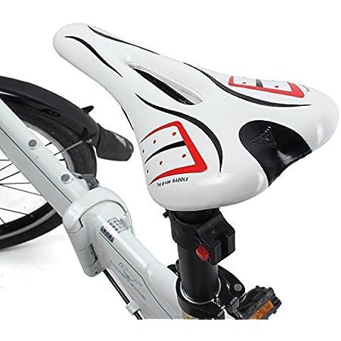 MaMaison007 Bicicleta al aire libre de bicicletas ciclismo V forma esponja asiento hueco de silla de montar silla de montar -