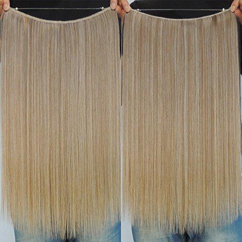 Halo Secret Miracle Draht-Haar-Extensions, 1 Stück, Halbkopf, keine Clips, Künstliches Haarteil für Frauen, 55,9 cm
