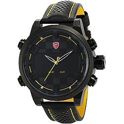 Shark Herren LED Armbanduhr 5cm Extragroßes Uhrgehäuse SH204