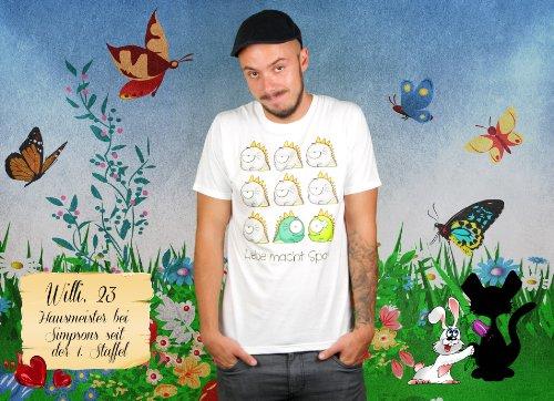 Liebe macht Spaß - Herren T-Shirt von Kater Likoli Weiß