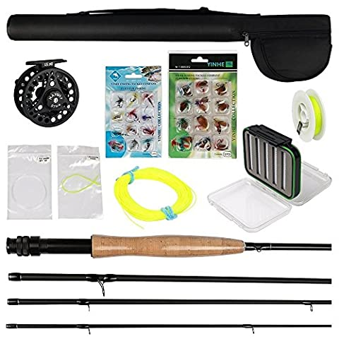 Goture Fly Fishing Rod Set 2.7M Carbon Fly Fishing Rod 3/4# Reel With Line Lure Files and Line