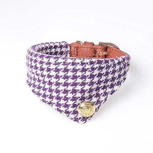 THFPetting - Collar Lazo tartán Mascota, Gato, Perro