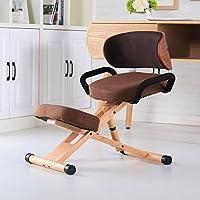 GAOJIAN Silla de rodillas ergonómica moderna con la silla de la oficina de los muebles de la parte posterior y de la manija altura ajustable de madera postura arrodillada silla