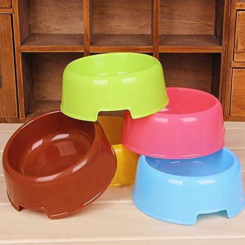Frixie (TM) 5 colori Pet Dog Feeding Ciotola di colore della caramella di plastica cucciolo Acqua eeating Feeder Bocce piatto per Gatti