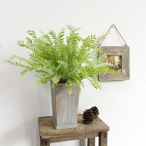 ünstliche Topfpflanzen grün-sik, der Nordischen Wohnzimmer eingerichtet mit hellen grünen Blätter der Kelch, Massivholz Blumentöpfe (String Der Blätter)