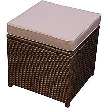 suchergebnis auf f r rattan hocker braun. Black Bedroom Furniture Sets. Home Design Ideas