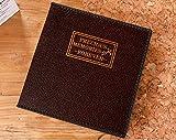 DDMY Album De Fotos PU Álbum De Cuero Vintage Hecho A Mano Álbum Casero De Sticky 12 Pulgadas DIY Paste Película Album Libro 20 Hojas (40 Caras) Negro