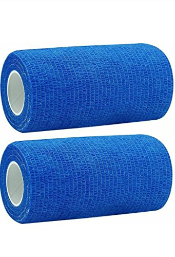 A-TAPE Cohesive Crepe Bandage (Pack of 2) Elastic Self Adhesive...