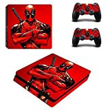 Playstation 4 Slim+2 Controller Design Sticker Protector Set - Deadpool (2) /PS4 S