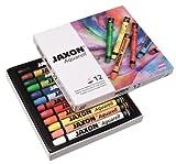 Jaxon 49436 Aquarell Wachspastelle, 12er Set