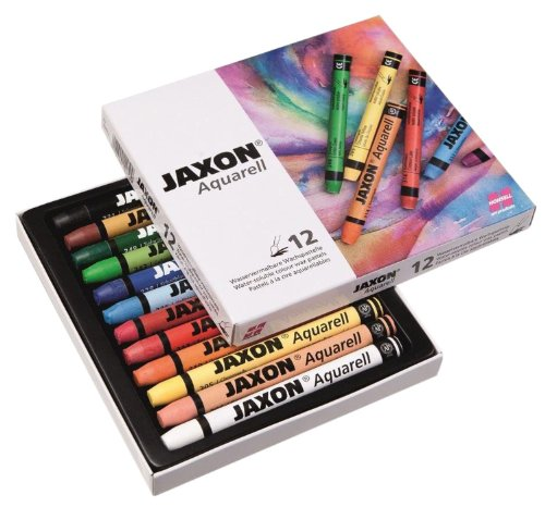 Jaxon 49436 Aquarell Wachspastelle, 12er Set