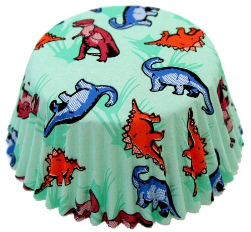 Fox Run 50 Dinosaur Standard Bake Muffin Cups Cupcake Liners Birthday New