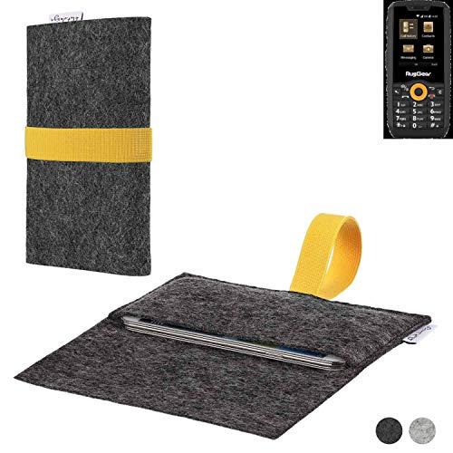 flat.design Handy Hülle Aveiro für Ruggear RG150 passgenaue Filz Tasche Case Sleeve Made in Germany