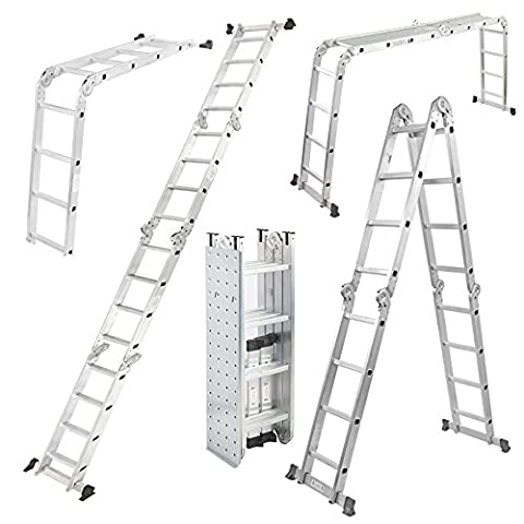 Work Expert Heavy Gauge Aluminium Multi Purpose Pro Articulated Ladder
