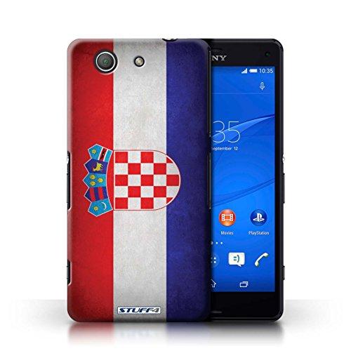 Coque en plastique pour Sony Xperia Z3 Compact Collection Drapeau - Amérique/americain Croatie