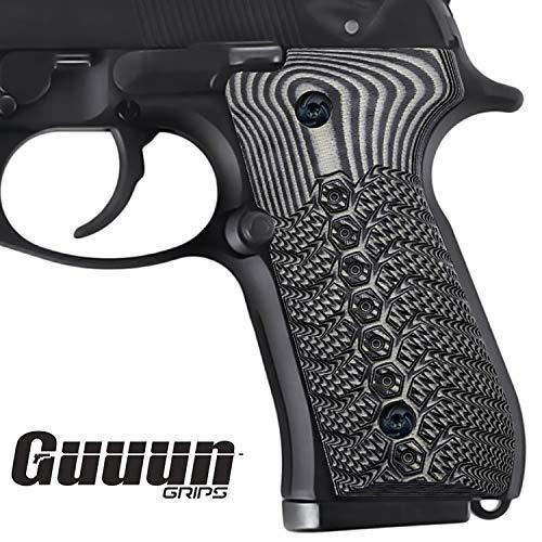 Guuun Beretta 92fs Griffe G10 Schlank Volle Größe M9 92A1 96A1 92 INOX Grip Gun Zubehör (Gun Griffe Custom)