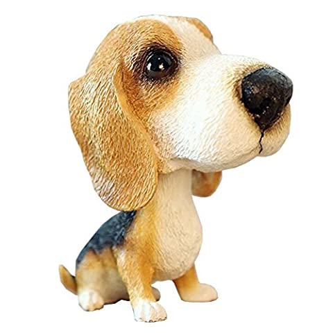 [Beagle] Cute Bobbleheads Car Ornaments Resin Car Decoration,4.7x2.3''