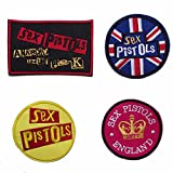 Set of 4 Sex Pistols On Patches