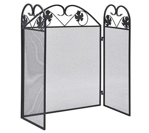 AEVOBAS Kamin Zaun 3 Panel, Schwere Stahlkonstruktion, Sicherheitsbarriere für Haustiere, Konfigurationsgitter, Kaminschutzgitter