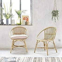 Lot de 2 fauteuils en rotin Vintage