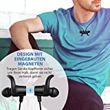 Bluetooth Kopfhörer TaoTronics 4.1 In Ear Kopfhörer Wireless Sport Headset mit aptX IPX5 Wasserschutz Ohrhörer mit Magneten/Mic für iPhone 7 7 Plus 6 6S Android Gerät bis zu 7 Stunden Betriebszeit