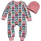 Kadambaby- Winter Bodysuit /Newborn Sleepsuit / Bodysuit For Baby Boy/ Premium Newborn Sleepsuit With Cap - CUTE CAT