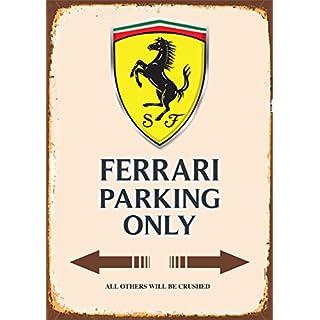 ComCard Ferrari Parking only blechschild