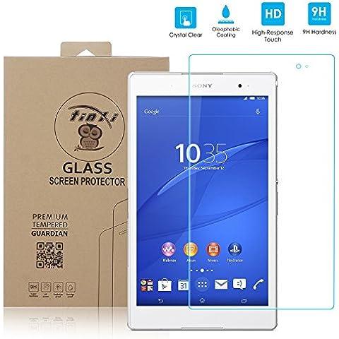 tinxi® Protector de vidrio templado de vidrio templado para Sony Xperia Z3 Tablet Compact 8 pulgadas prima Protector de pantalla Protector de pantalla ultra