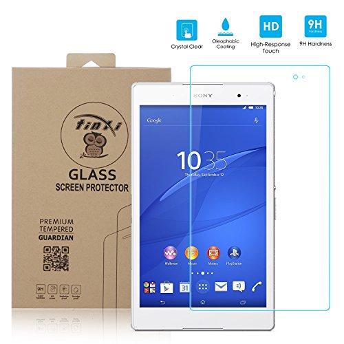 tinxi® Tempered Explosiongeschützte Glass Hartglas Schutzfolie für Sony Xperia Z3 Tablet Compact 8 zoll (20,32cm) Premium Screen Folie Protector Ultra Hart Displayschutz Panzerfolie clear