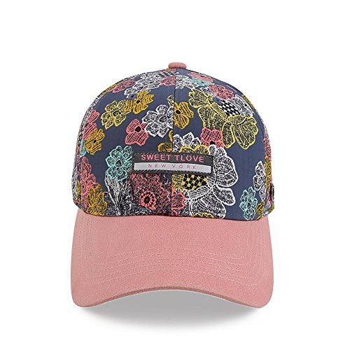 Mode Baumwolle Drucken Muster Baseball Cap verstellbar Hut, verstellbar, Farbe (Hut Wildleder Newsboy)