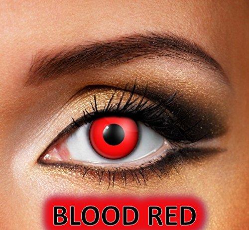 MesmerEyez Bloody Red - 1 Tag lustige Linsen - Halloween Karneval Party - XtremeEyez - pro 2