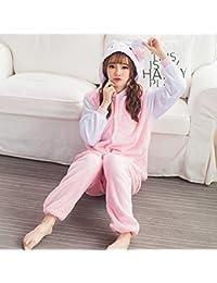 MH-RITA Halloween 2017 Otoño e Invierno Pajama establece Cartoon dormir Mujer Pijama de franela