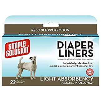 Simple Solution Disposable Dog Diaper Liners Light Absorbency – 22 Pack 51xTJ3nesPL